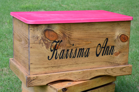 Laser Engraved Kids 23x13x13 Toy Box