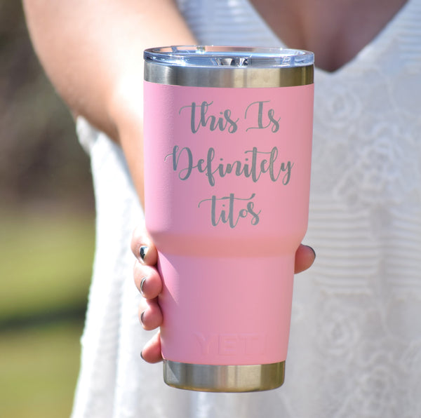 NEW Limited Addition PINK - Personalized Authentic Yeti Rambler Tumbler