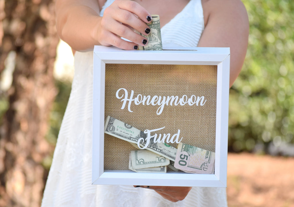 Honeymoon fund wedding sign honeymoon fund box - F und s polstermobel ...