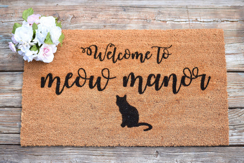 Welcome to Meow Mannor Doormat