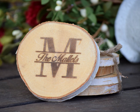 Custom Birch Wood Coasters