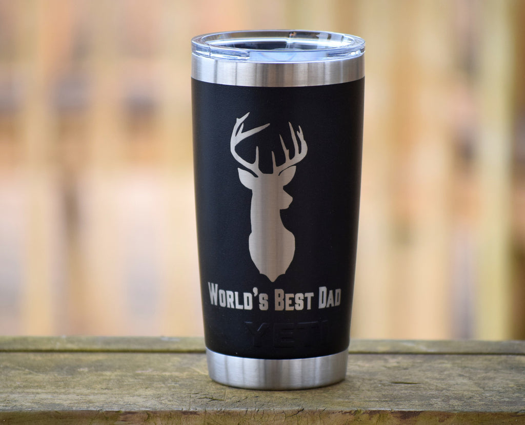 Worlds Best Dad Deer Authentic Yeti Rambler