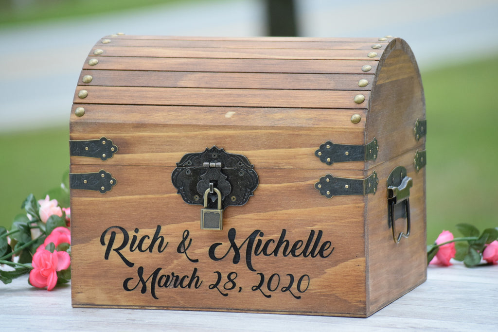 Secured Personalized Wooden Card Box