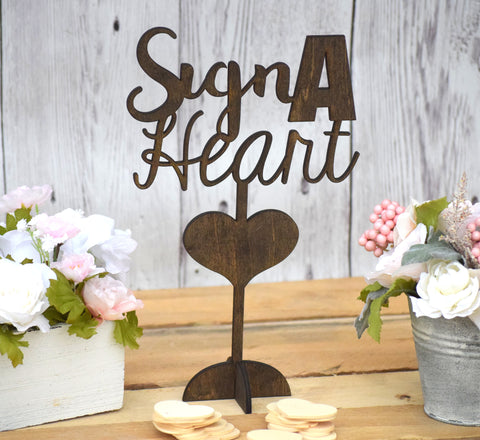 Free Standing Sign A Heart Sign