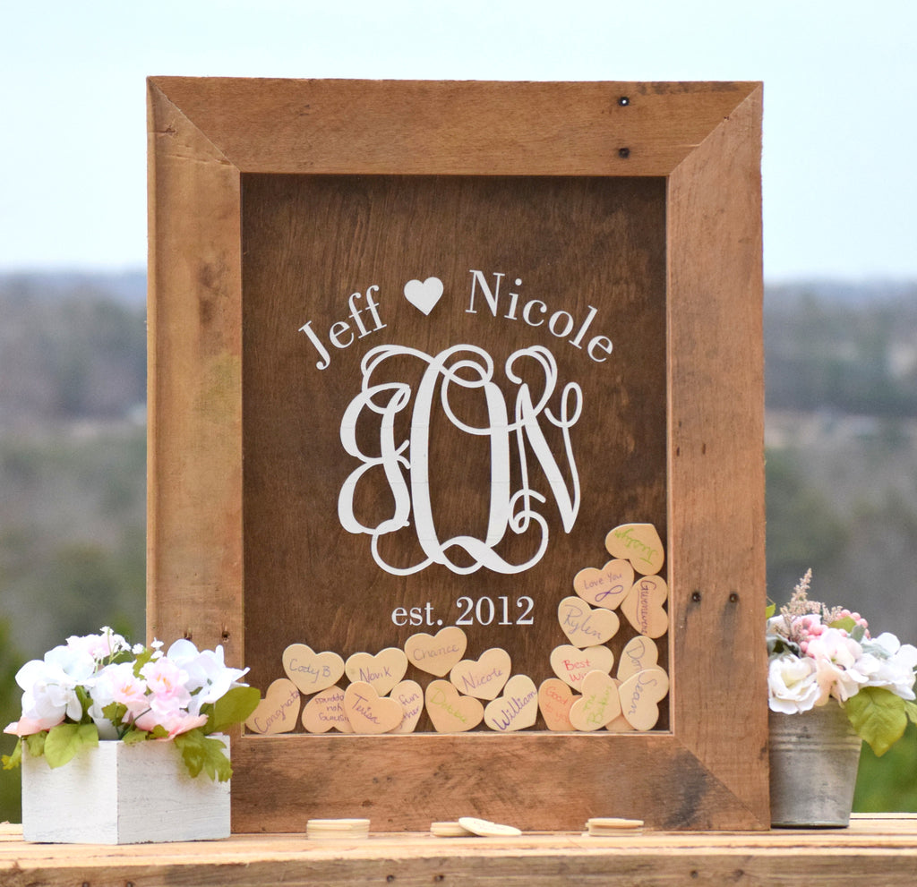 Wedding Guest Book Wood Guest Book Wedding Guestbook: Wedding Guest Book Alternative