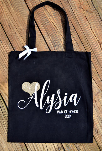 Personalized Bridesmaid Tote Bag - Wedding Party Pags
