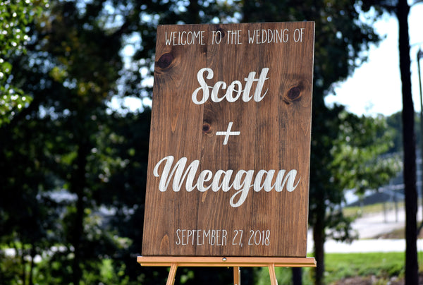 Welcome To Our Wedding Ceremony Sign