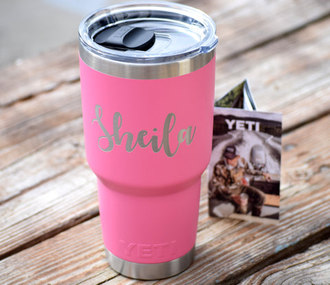 Engraved Authentic Yeti Rambler Tumbler