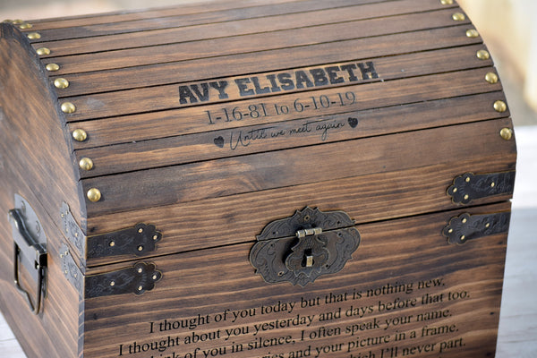 Wooden Keepsake Memorial Box