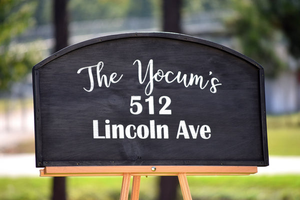 Large Personalized Home Address Plaque