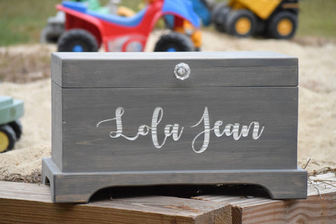 Personalized Toy Box