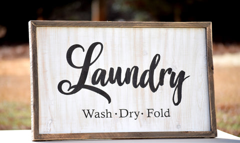 Farmhouse Style Laundry Room Sign