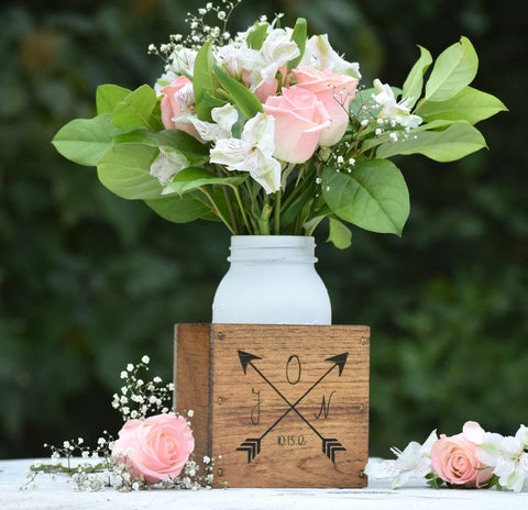 Personalized Wooden Flower Vase Planter Box