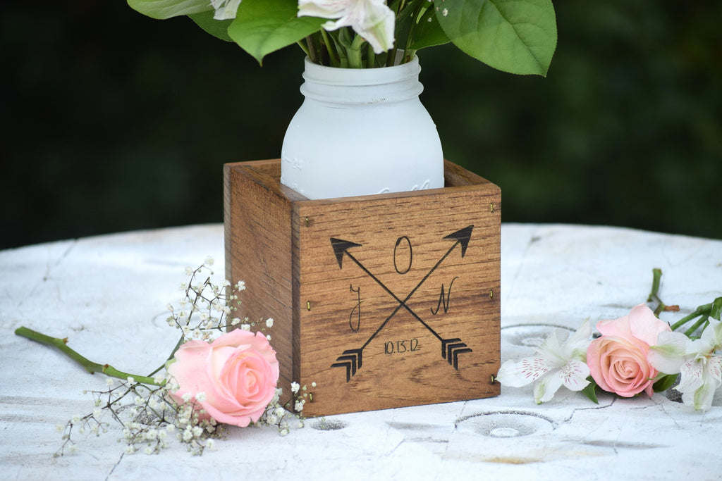 Personalized Wooden Flower Vase Gifts For Her Wedding