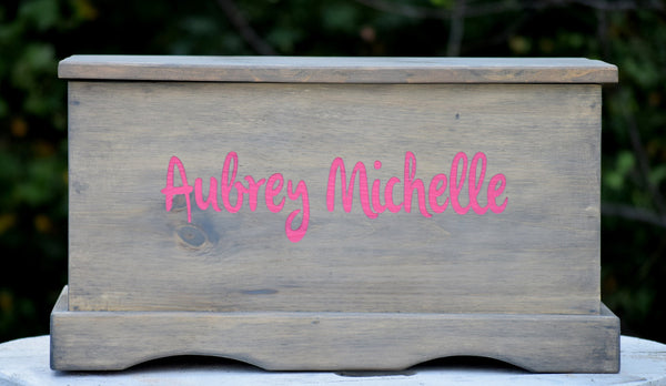 Personalized Kids Toy Box