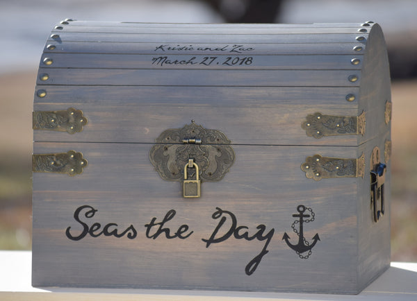 Nautical Seas the Day Card Box