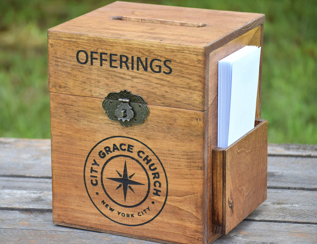 Church offering Box - Donation Box - Wood Box – Country ...