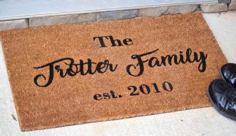 Last Name Personalized Doormat
