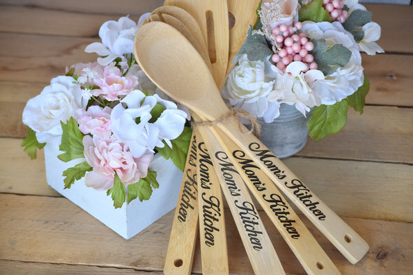 Personalized Wooden Spatula Set of 6