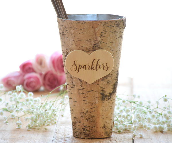 Wedding Sparklers Birch Pail
