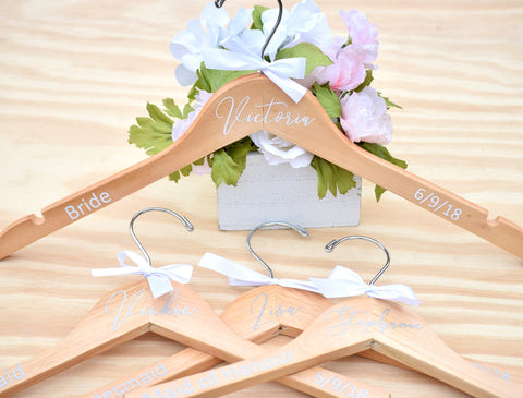 Personalized Wedding Party Hanger