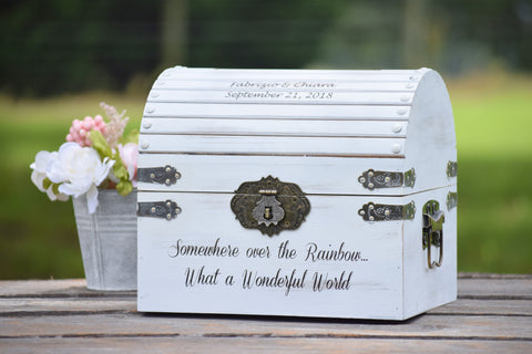 Distressed Card Box Lockable with Card Slot