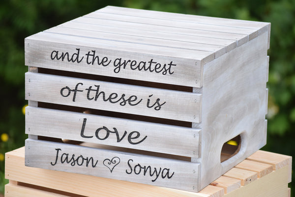Distressed Cake Crate with Personalized Engraving