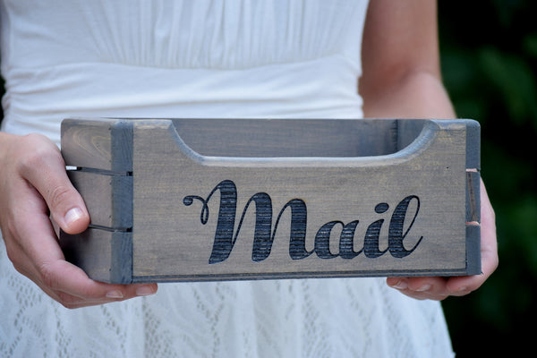 Wooden Mail Holder