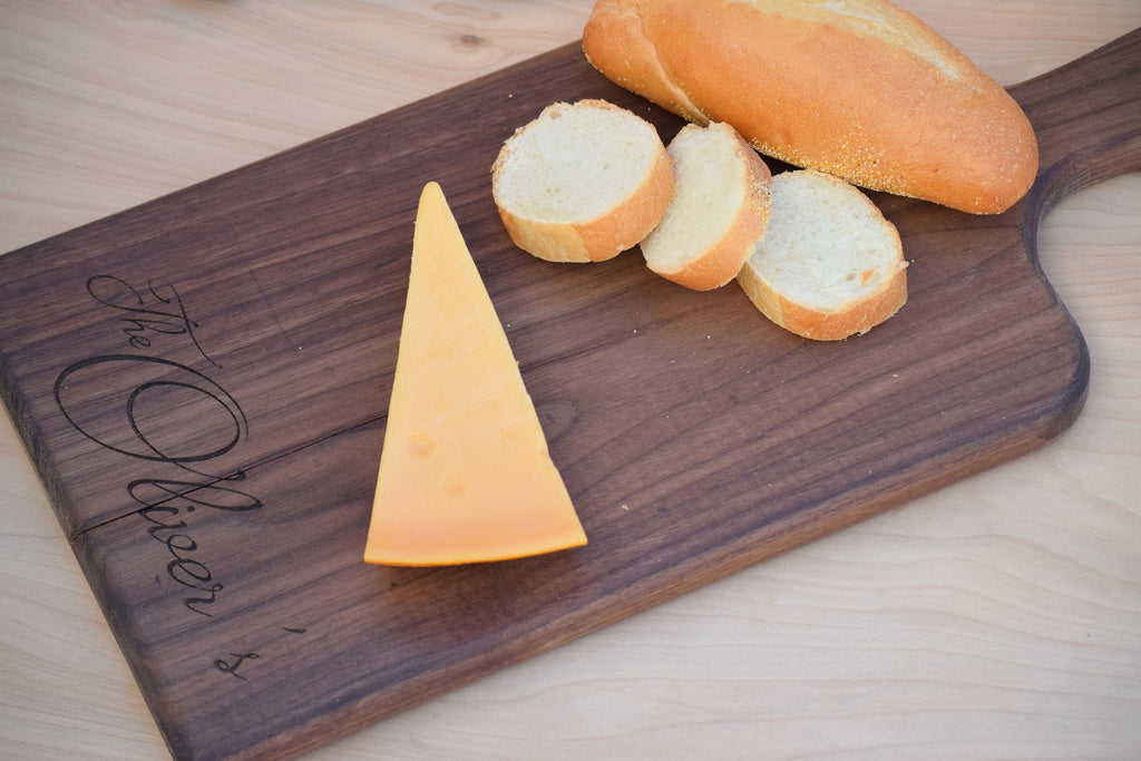 Personalized Bread and Cheese Board with Handle