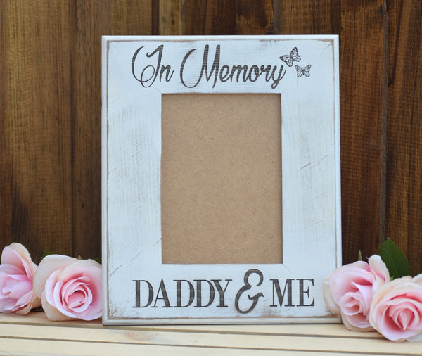 Personalized Distressed Picture Frame - In Memory Gift