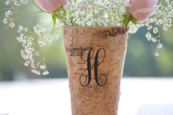 Personalized Birch Vase