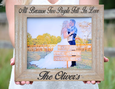 Barnyard Style Personalized Picture Frame