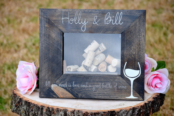 All You Need is Love and a Good Bottle of Wine Wine Cork Holder