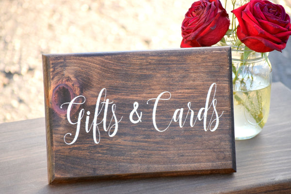 Self Standing 9x6 Gifts and Cards Sign