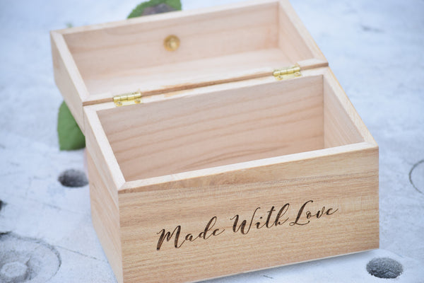 Made with Love Recipe Card Box