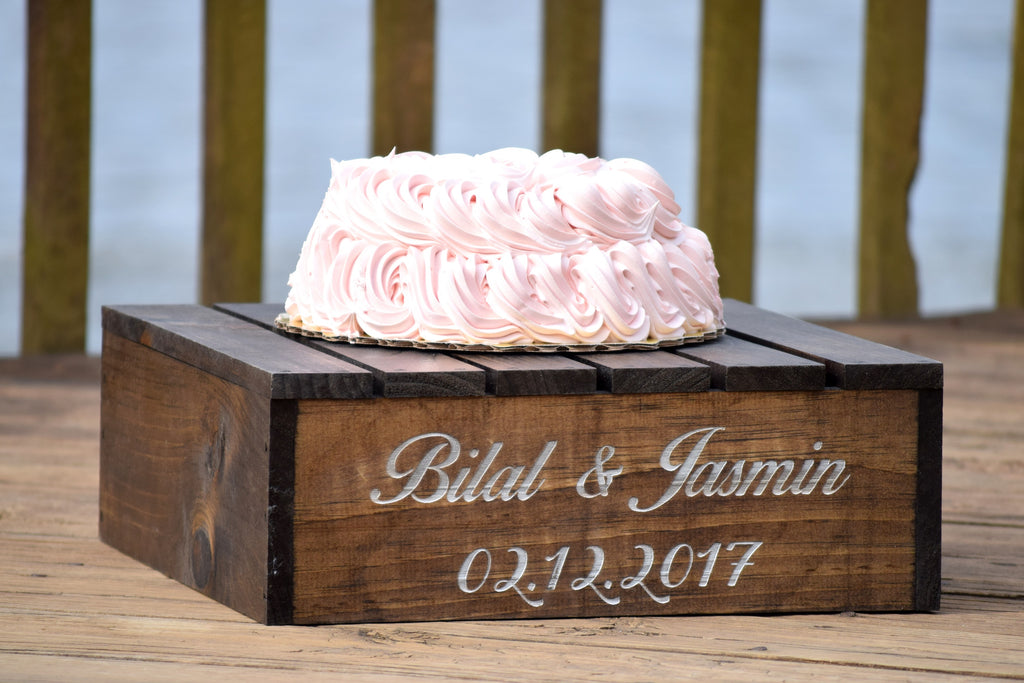 Wooden Personalized Cake Stand