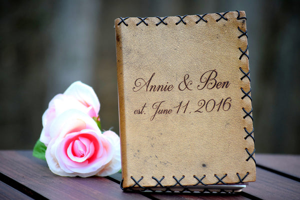 Personalized Leather Guest Book/Journal