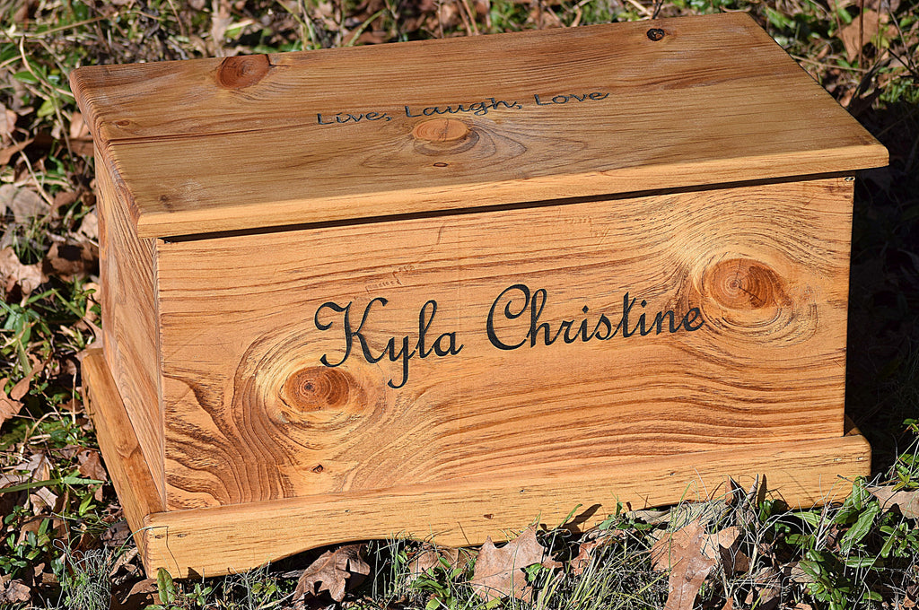 Personalized Kids Toy Box With Outside Lid Engraving