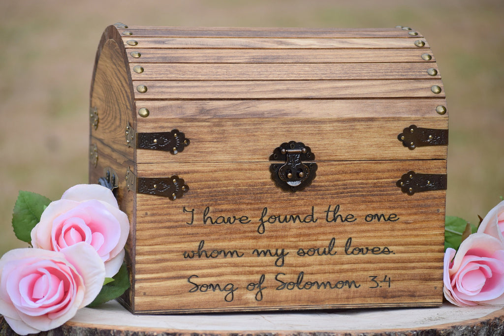 I Have Found the One Whom My Soul Loves Song of Solomon 3:4 Keepsake Chest