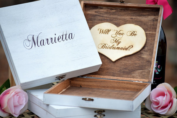 Personalized Distressed Bridesmaid Box