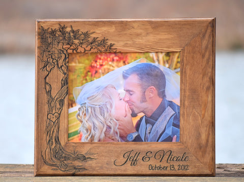 Personalized Love Tree Picture Frame - 5x7 or 8x10 Sizes Available