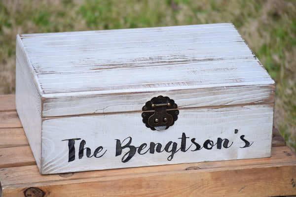 Distressed Flat Top Wedding Card Box
