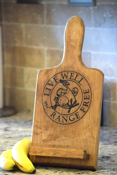 Free Range Chicken Tablet/Cookbook Holder