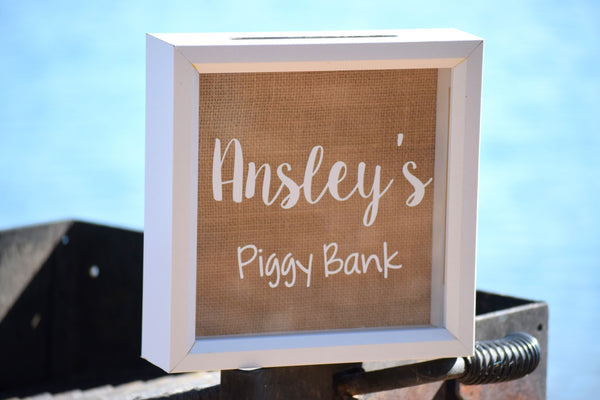 Personalized Kids Piggy Bank Box
