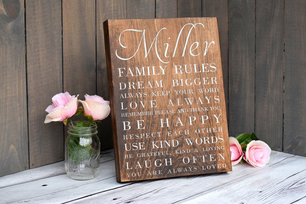 "11"" x 15"" Wooden Family Canvas Sign"