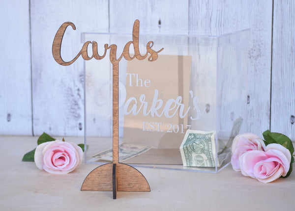 Self Standing Wooden Cards Sign