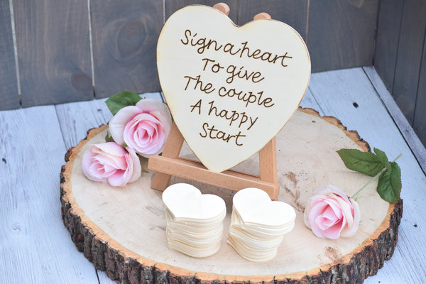Sign a Heart to Give the Couple a Happy Start Guest Book Alternative