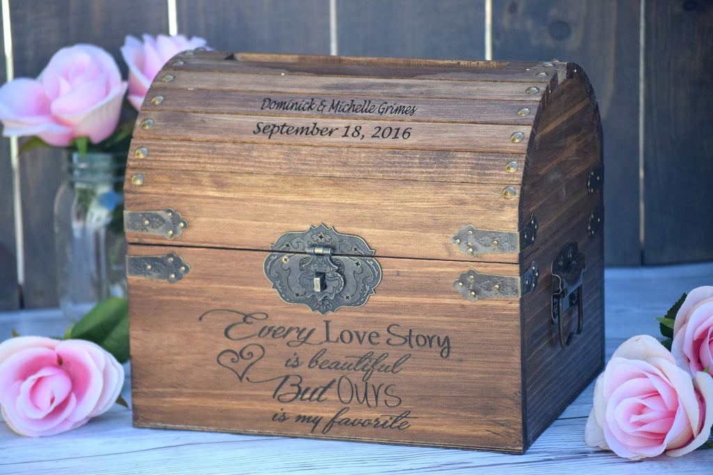 Every Love Story is Beautiful But Ours Is My Favorite Country – Lockable Wedding Card Box