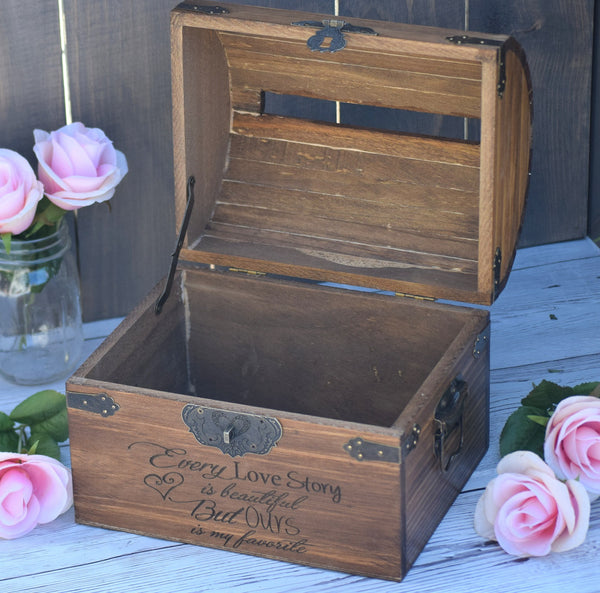 Lockable with Card Slit Every Love Story is Beautiful But Ours Is My Favorite Wedding Card Box