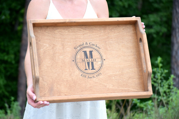 "20"" x 15"" Personalized Serving Tray"